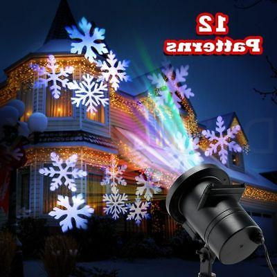 12 Motion Christmas Landscape Projector Spotlight Waterproof