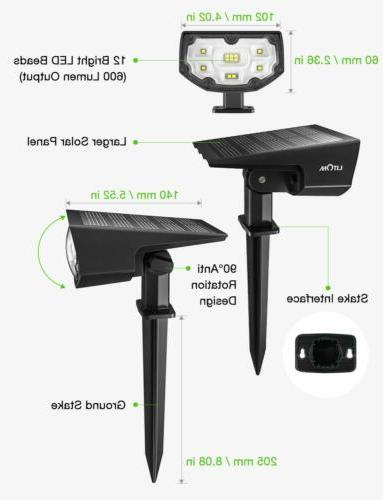 12LED Solar Landscape Waterproof Powered