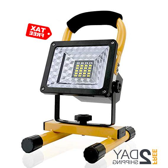 15w portable rechargeable work spotlights led lights