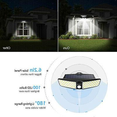 100 LED Dual Security Detector Solar Light Motion