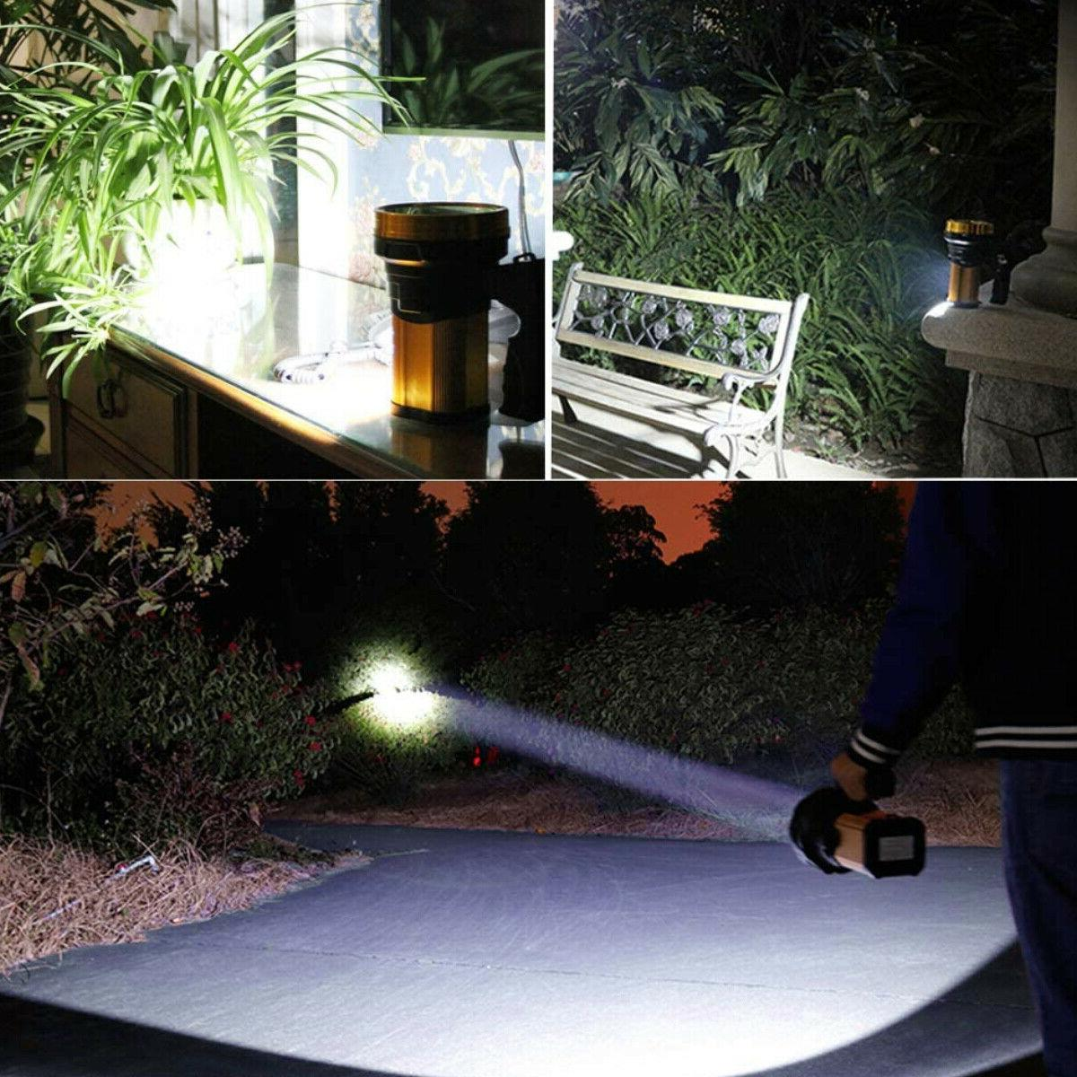 Rechargeable Bright LED Searchlight Handheld Portable Flashlight