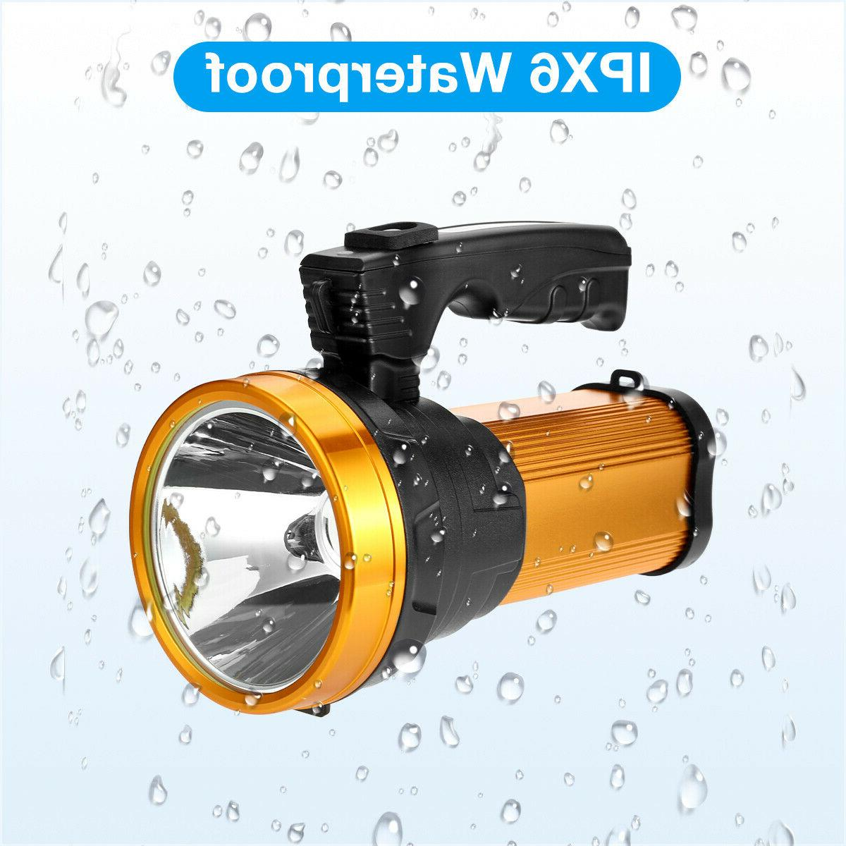 Rechargeable Super Bright LED Searchlight Portable Flashlight