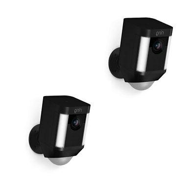 2 Pack - Ring Spotlight Cam Battery Security Camera 8SB1S7-B