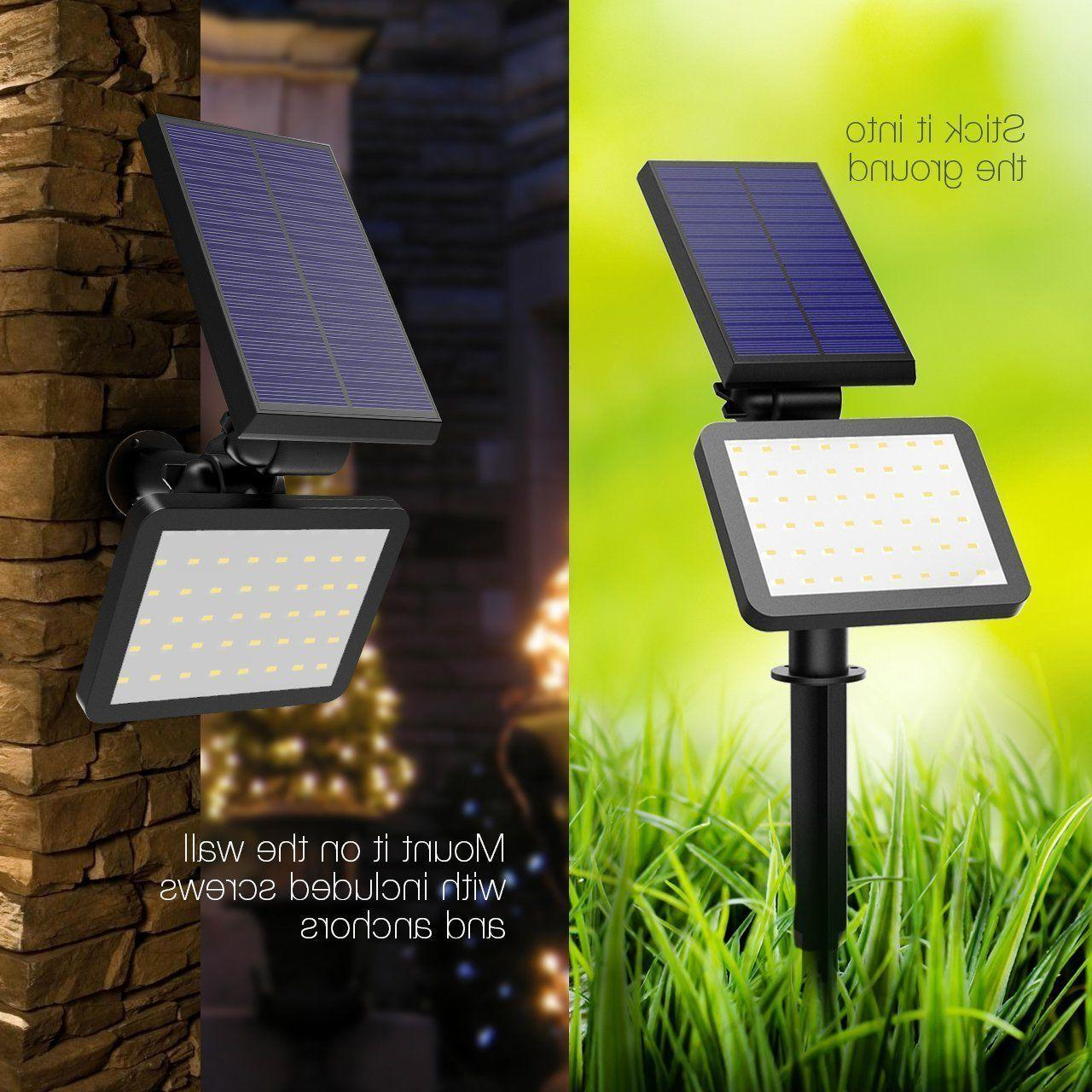 48 LED Solar Power Spotlight Garden Lawn Lamp Landscape Ligh