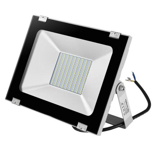 2x 100W LED Flood Light Garden White