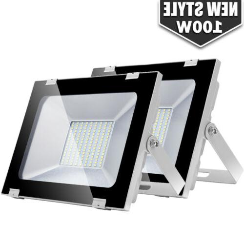 2x 100w led flood light outdoor lighting