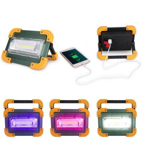 2x Rechargeable Portable LED Work Flood