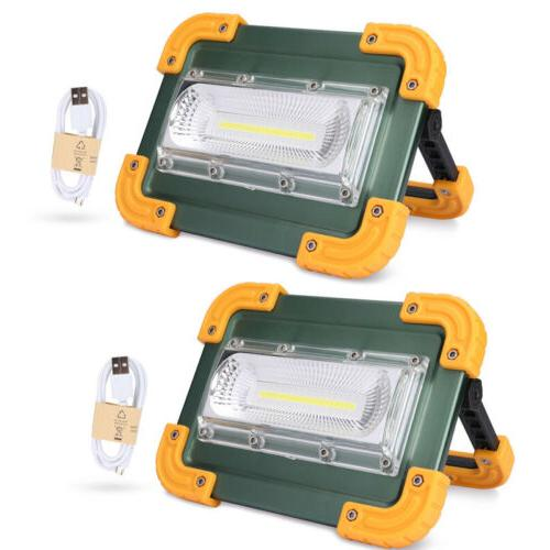 2x rechargeable portable 30w led work light