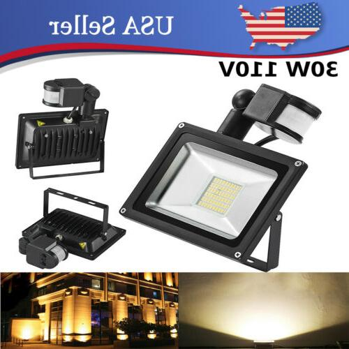 30w led flood lights warm white pir