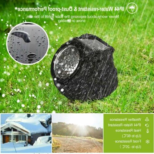4Packs Solar Rock Outdoor Solar Lights Stone Lawn Lamps