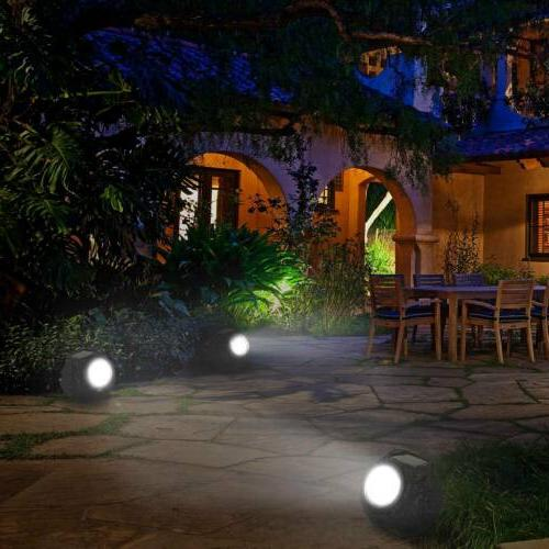 4Packs Solar Outdoor Stone Spotlight Lawn Lamps