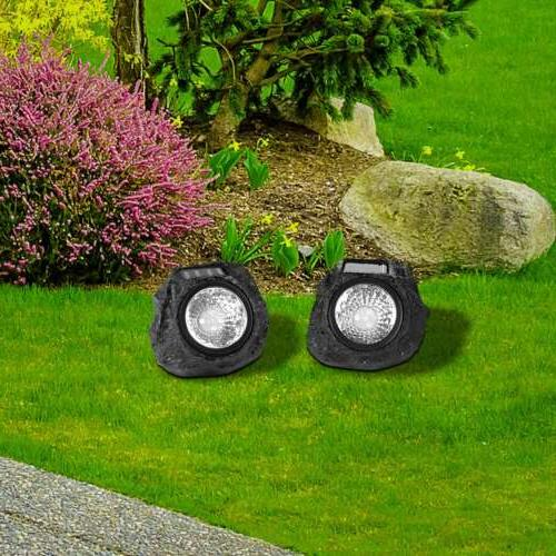 4Packs Lights Outdoor Solar Garden Lights Stone Lawn Lamps