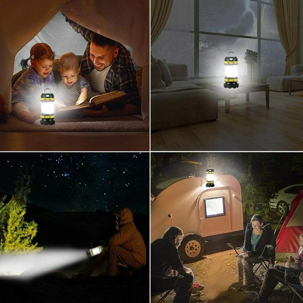 85000LM LED Camping Rechargeable Emergency Light