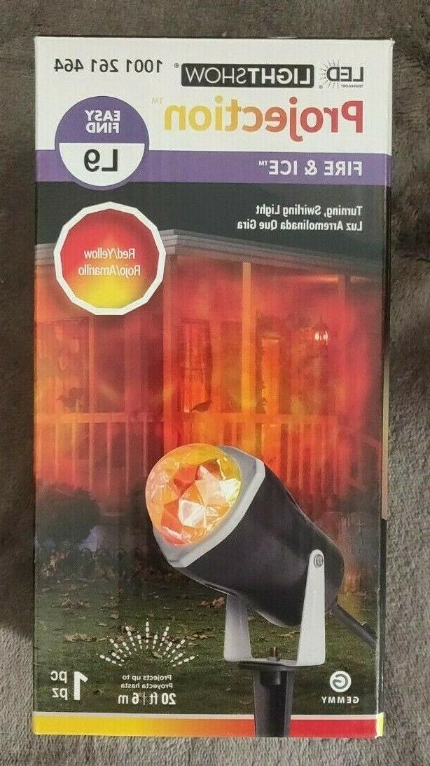 Gemmy 966237 LED Outdoor Fire and Ice Lightshow, Orange