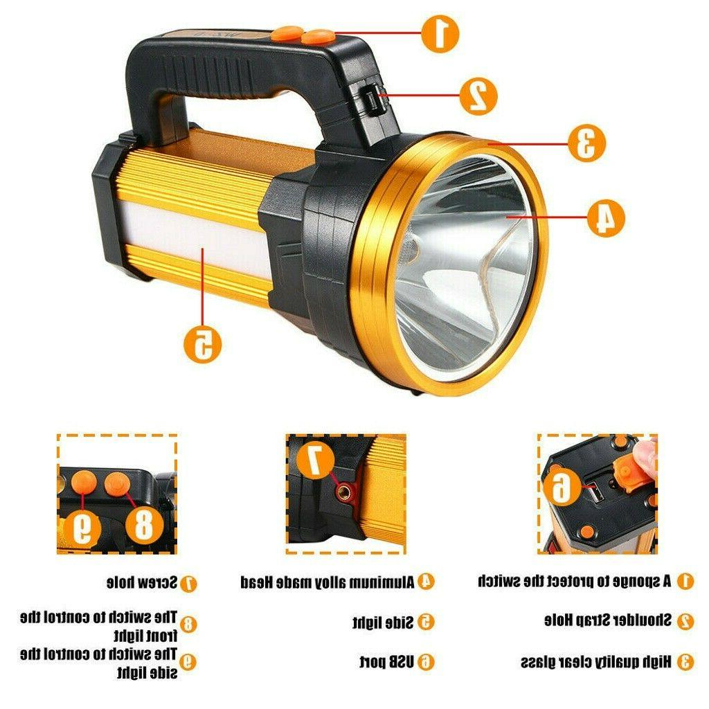Bright Rechargeable Handheld Flashlight Outddor