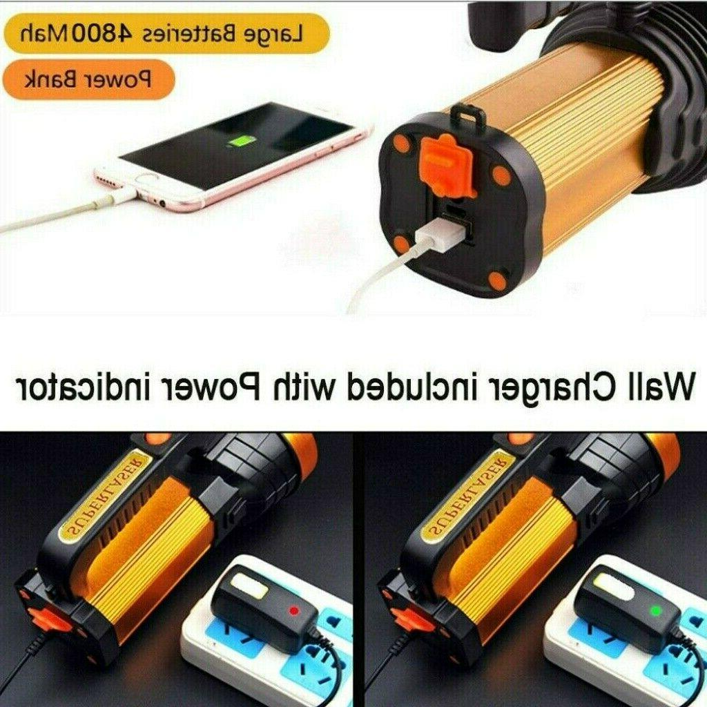 Bright LED Rechargeable Handheld Flashlight Outddor