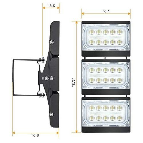 LED STASUN 13500lm LED Security 330°Wide Lighting Daylight, OSRAM Heads, Great Yard, Lot