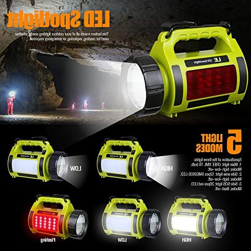 LE Rechargeable Lantern, 1000lm Bright, 3 Lighting Modes Outdoor Tent Hiking, Emergency More