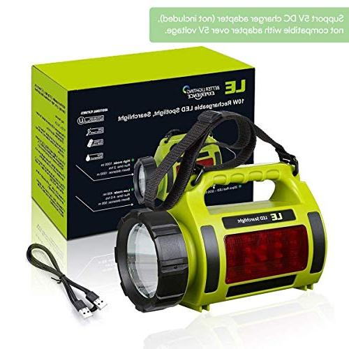 LE Rechargeable LED Camping Lantern, Bank, 1000lm Super 3 Outdoor Light for Hiking, Fishing, and