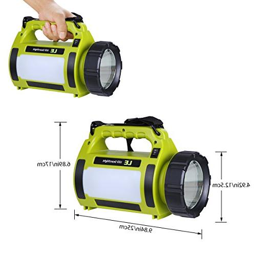 LE 1000lm Super Bright, 3 Lighting Searchlight, Outdoor Tent Light Hiking, More