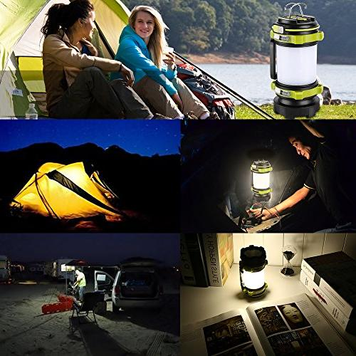 LE Portable LED Camping Lantern, 2600mAh Power Bank, Super Bright Flashlight, Dimmable 3 Modes Searchlight,