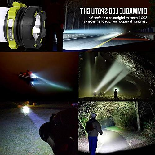 LE Portable LED Lantern, Bright Flashlight, 3 Lighting Modes Outdoor Tent Hiking, Fishing More
