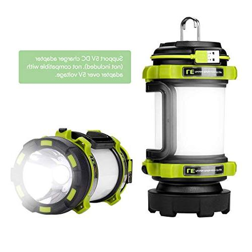 LE LED Lantern, USB Power Super Bright Spotlight, 3 Outdoor Tent Hiking, and