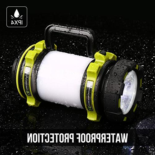 LE Portable Lantern, Power 500lm, Super Bright Flashlight, Dimmable Spotlight, 3 Modes Outdoor for