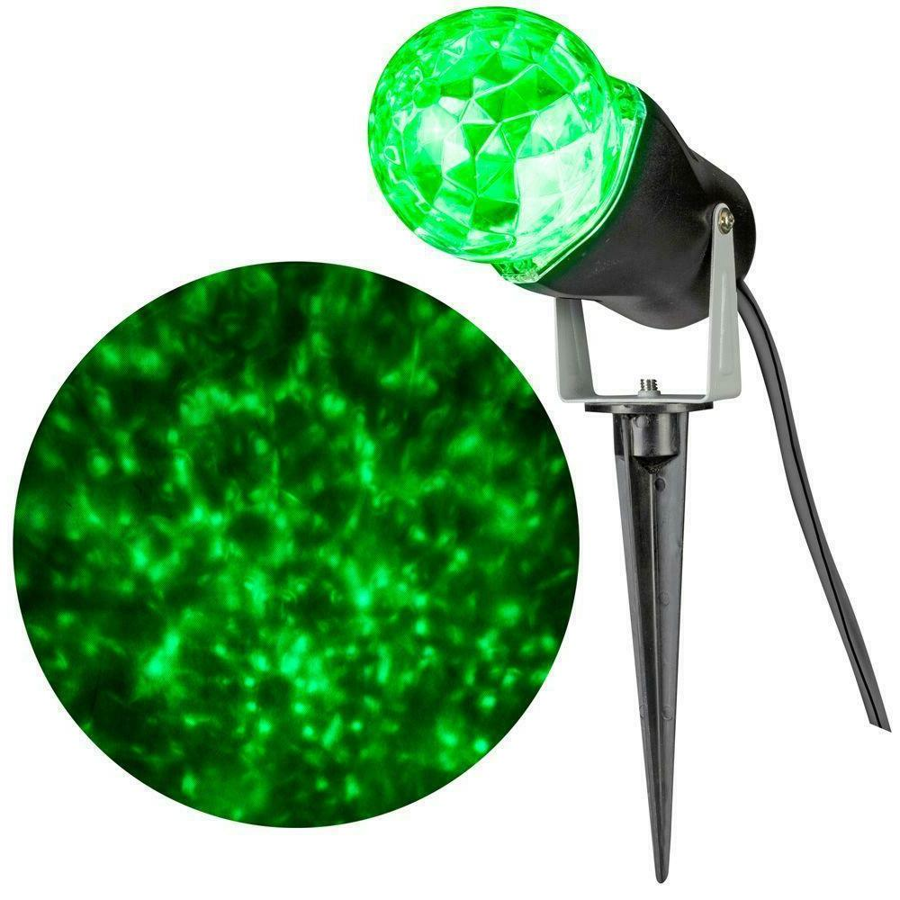 led lightshow projection kaleidoscope green swirling light