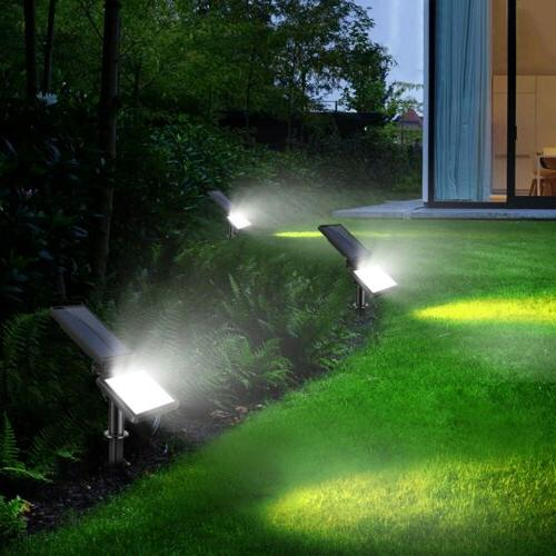 48-LED Solar Powered Flood Light Waterproof Spot Lamp Outdoo