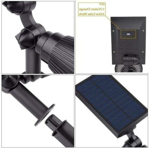 Outdoor Solar Spot 7 Color Changing LED Garden Waterproof