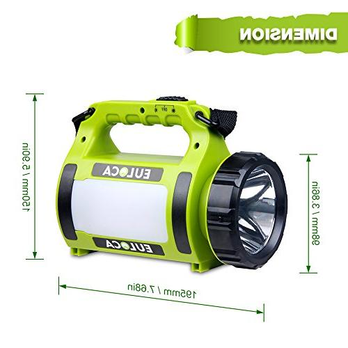 EULOCA Spotlight, Camping Lantern Power Bank, Torch, Cable, Emergency