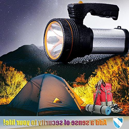 ROMER LED Rechargeable Handheld Searchlight High-power Bright 9000 CREE Lantern Flashlight