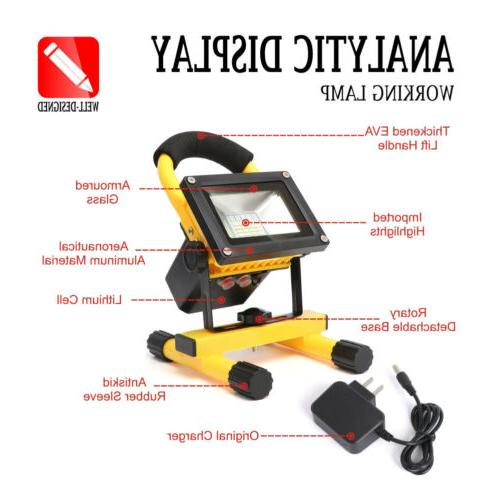 Rechargeable Portable LED Work Floodinglight Lamp