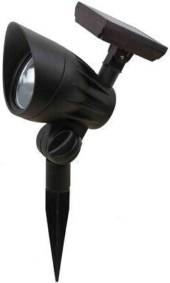 Solar Landscape Spot Light Black Outdoor Pathway Yard Hampto