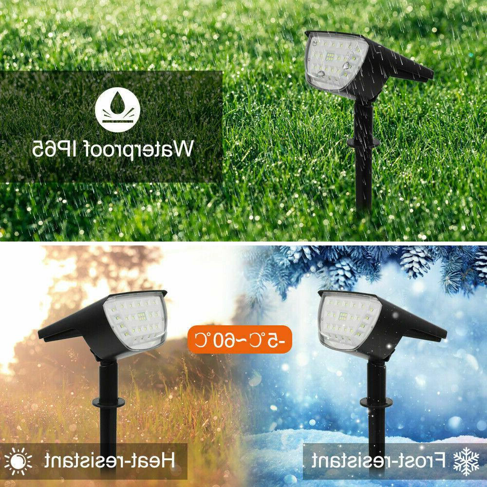 Solar 20-LED Lights Outdoor Garden Security Pathway Lawn US
