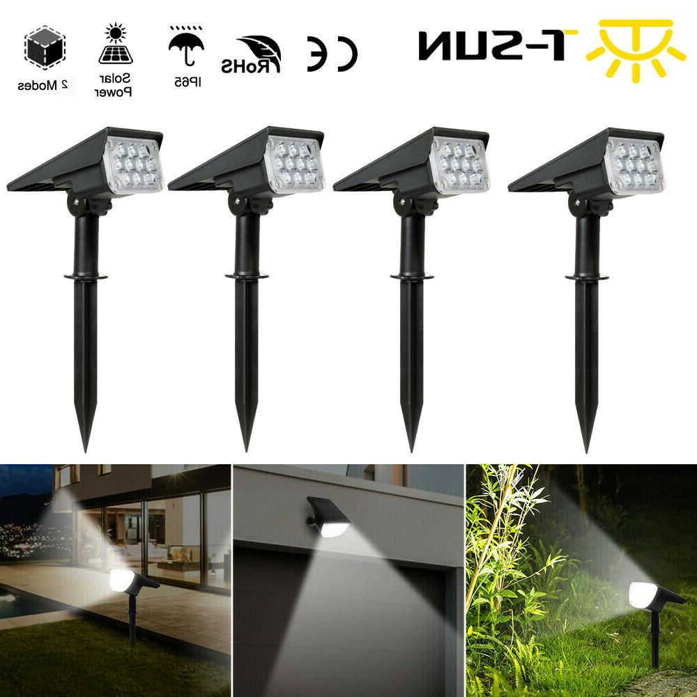 Solar 20-LED Lights Outdoor Pathway Lawn Wall US