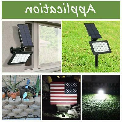 Solar Power 50-LED Spotlight Landscape Lights Outdoor Garden Pathway