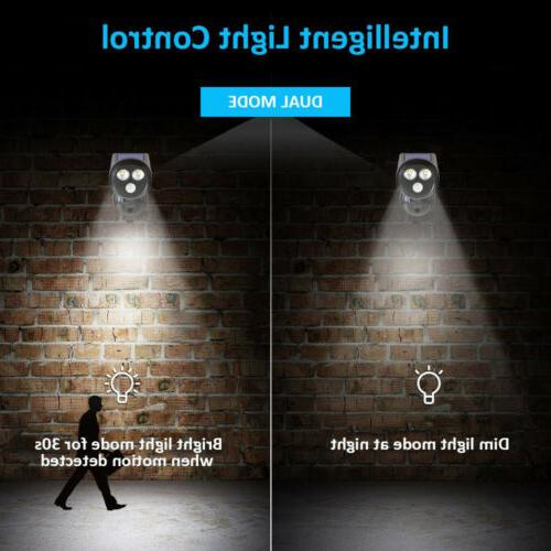 Solar Powered Motion Light Security Wall
