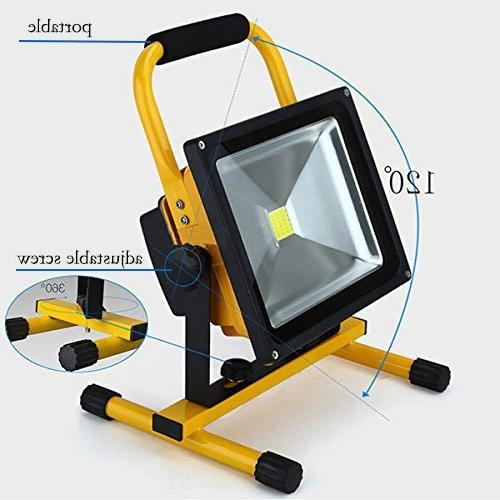Spotlights Work Lights Camping Portable LED Work Light Camping Emergency Lights Floodlight With Lithium Batteries,