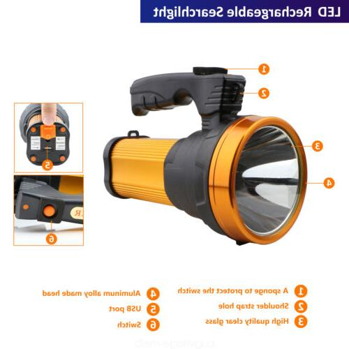 Super LED Rechargeable Handheld Spotlight Flashlight Portable