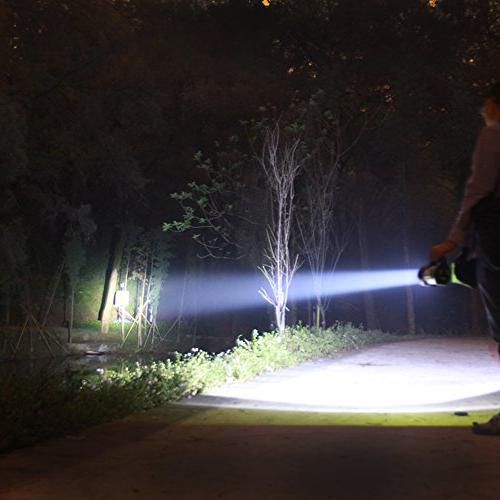 Smiling Super Bright Rechargeable Flashlight, 10 Modes LED & Spotlight Shoulder