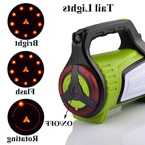 Smiling Super Rechargeable Lantern 10 Portable LED Searchlight Torch, Charging Cord, Shoulder