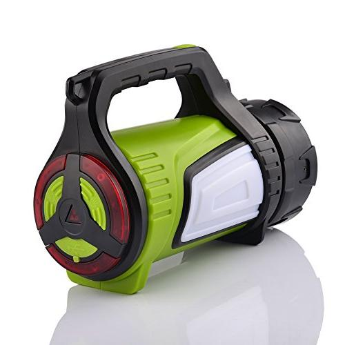 Smiling Shark Super Bright Rechargeable Lantern 10 Modes Multifunction Portable LED Torch, Charging Cord, Shoulder
