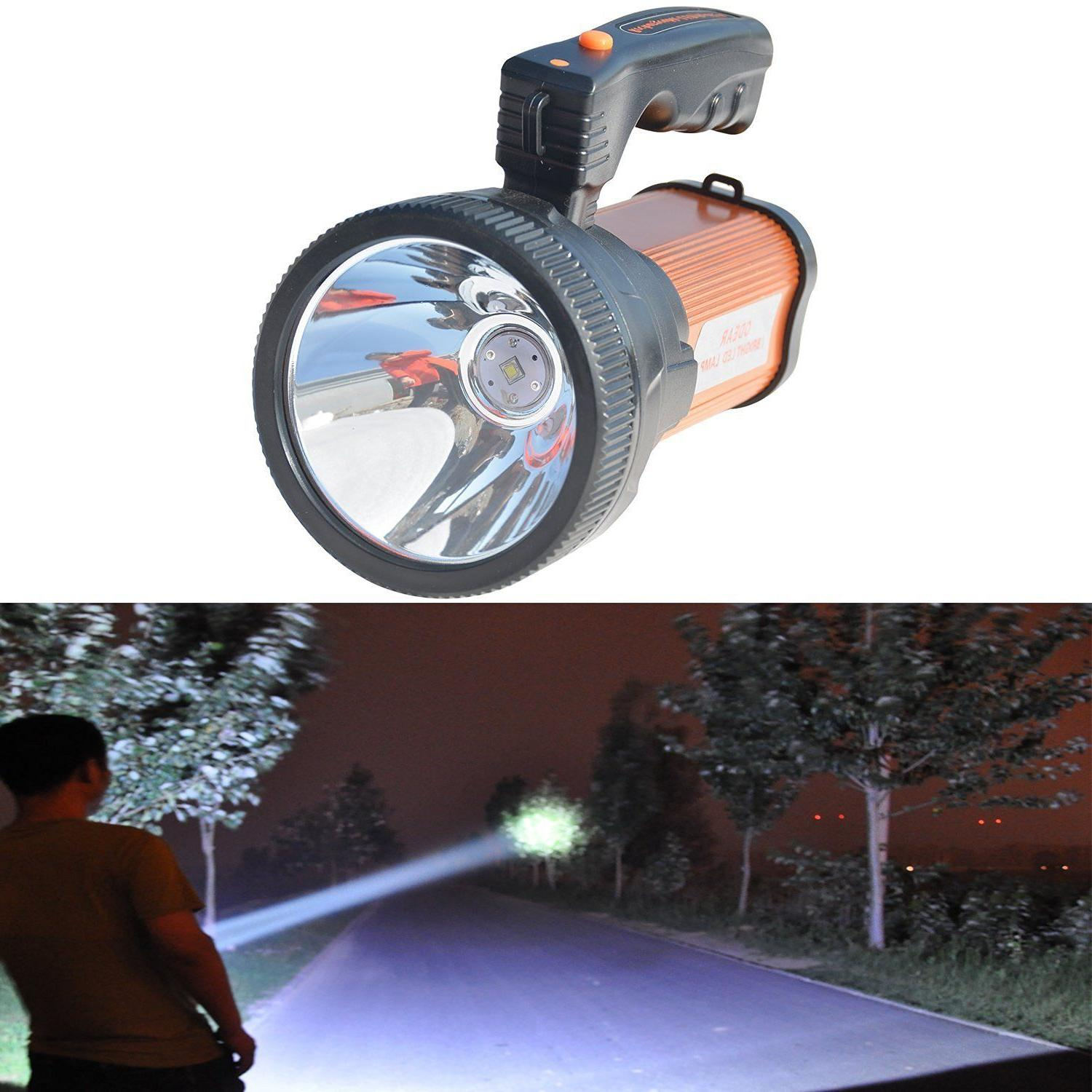super bright searchlight handheld portable spotlight flashlight