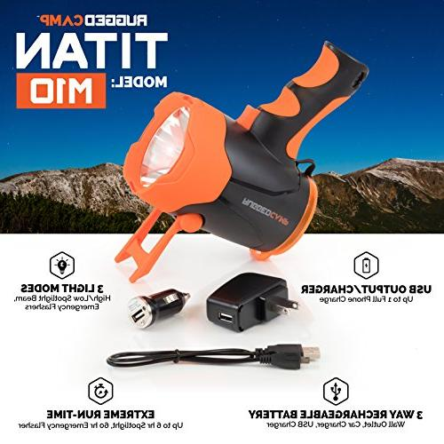 TITAN M10 Rechargeable 10W LED Lumens High - In Stand & Charger - Perfect Camping, Emergencies Charging