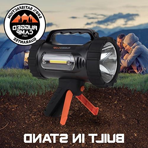 Rugged Titan Rechargeable Lumens - High Powered 10W LED Bright Flashlight - Work Light Tripod Camping, & Outdoors