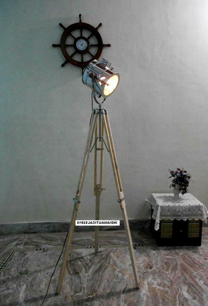 Vintage Floor with Tripod Finish Light