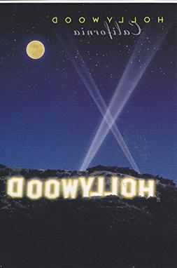 LA 308 SPOTLIGHTS ABOVE THE HOLLYWOOD SIGN POSTCARD.. from H