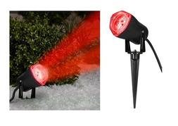 Gemmy LED Lightshow RED Spotlight Swivels into Position New